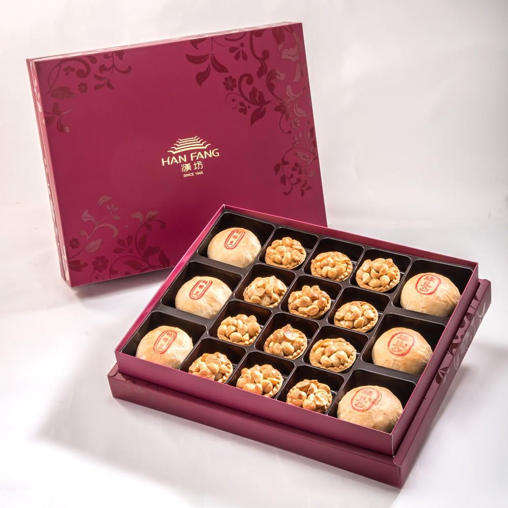 【金饌】綜合18入禮盒★綠豆椪*3+純綠豆椪*3+夏威夷豆堅果塔12