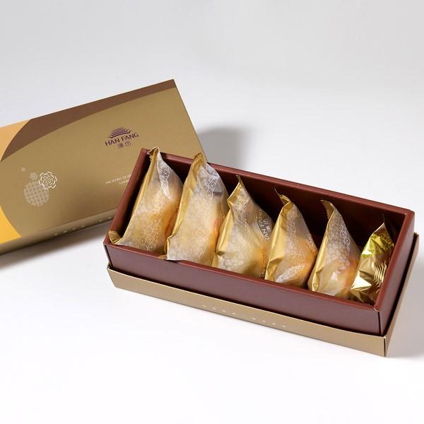 【御點】綜合6入禮盒★鳳梨酥*1+蛋黃酥*1+漢坊金沙小月*1+綠豆椪*1+純綠豆椪*1+沖繩黑糖蛋黃酥*1